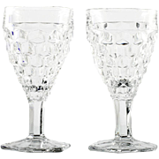 Fostoria American Wine Glasses Vintage Elegant Glass Pair