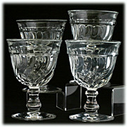 Fostoria Colony Crystal Water Goblets Set 4 Vintage Elegant Glass