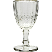 Prism and Diamond Band EAPG Wine Glass Imperial Glass Corps 1906