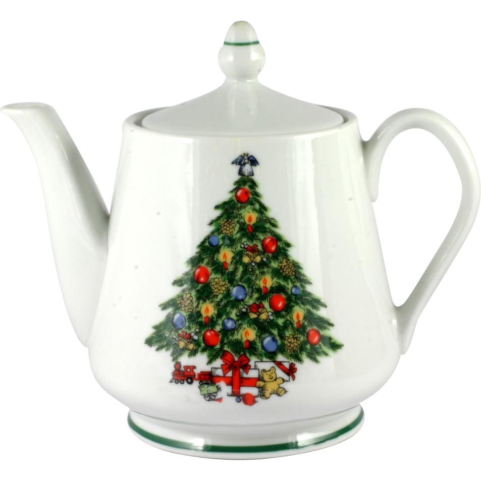 christmas tree china teapot mount clemens 5 cup made in usa - Large Christmas Tree