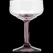 Fostoria Corsage plum Champagne Glass Stem 6126 Vintage 1970s Elegant Glass