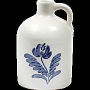 Pfaltzgraff Yorktowne Blue Pottery Crock Bottle Decanter Jug Vintage Mid Century Modern