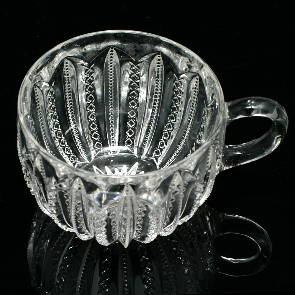 EAPG Mardi Gras Punch Cup 1894 Antique Pressed Glass