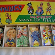 "Vintage "" Funnijigs "" Stand-up Wooden Puzzle Figures"