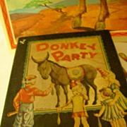 Vintage Whitman Game * Donkey Party * # 3015