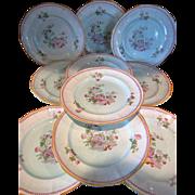 "Calyx Ware "" Metz ""   Dinner Plates  Adams, England"