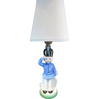 Vintage Juvenile Lamp Soldier Germany