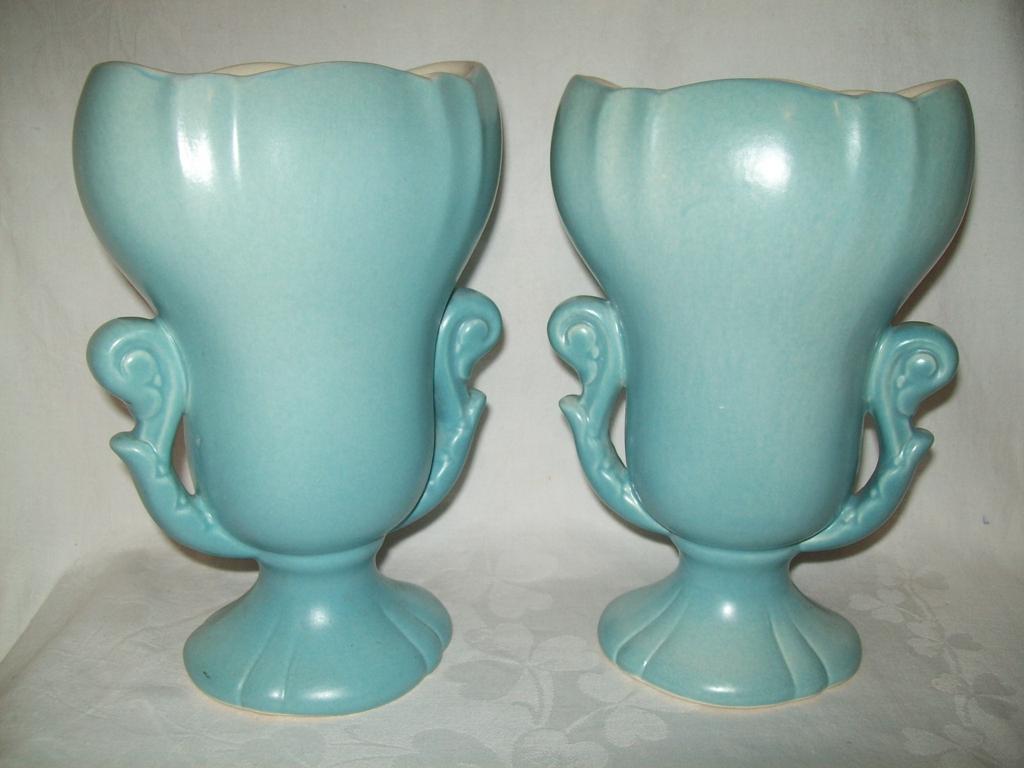 Vintage Pair Redwing Vases #1053