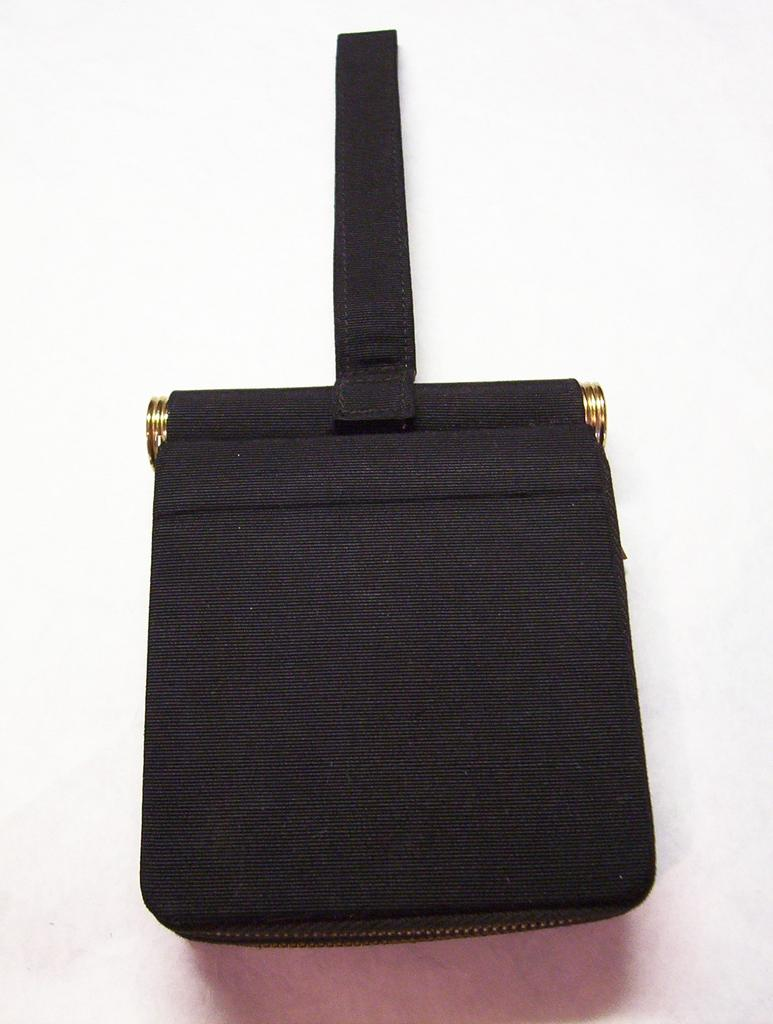 Black Faille Vanity / Evening Bag **Dorette **