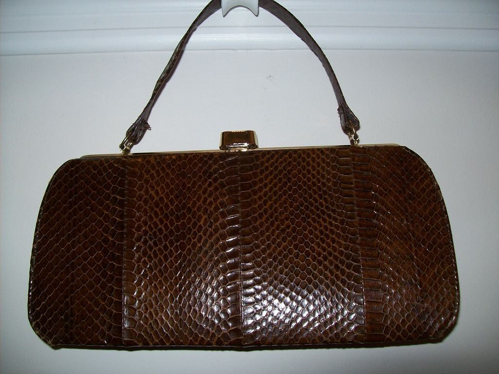Item ID: 252 snakeskin bag In Shop Backroom