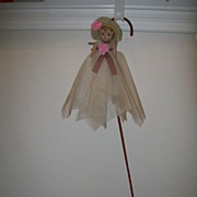 Vintage Carnival Celluloid Doll/ Cane