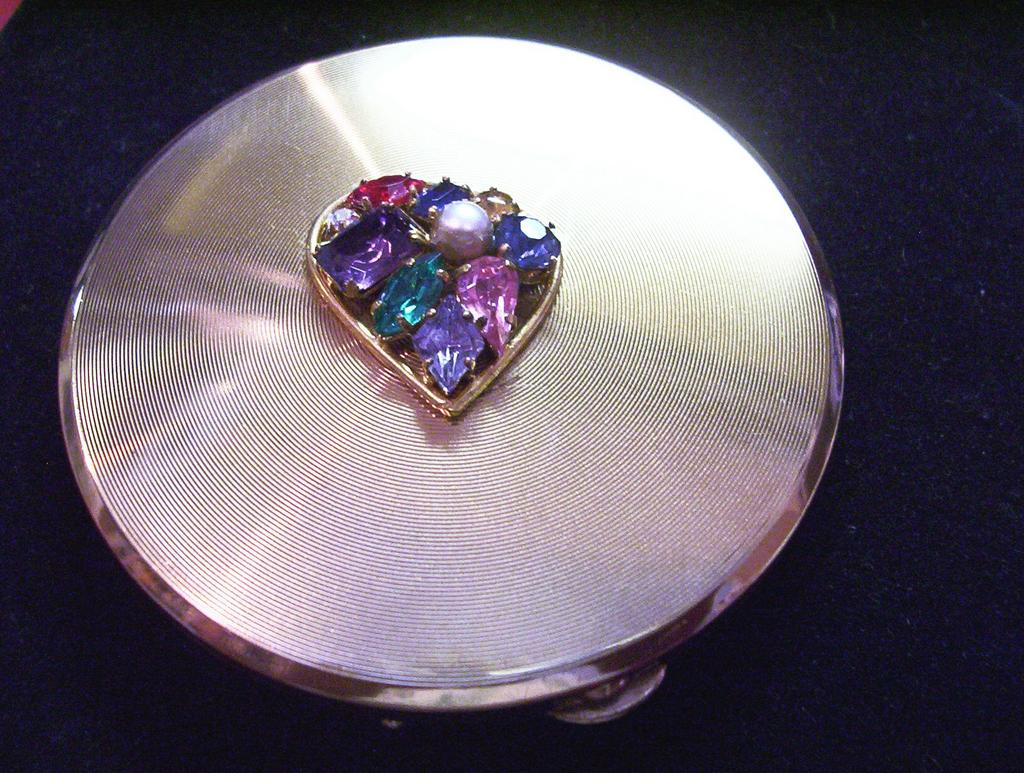 Gold & Glass Stone Compact ** Made in Germany**