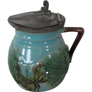Majolica Syrup Pitcher