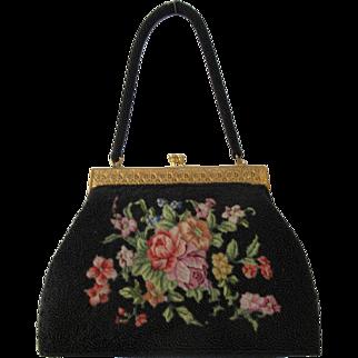Vintage Petit Point Beaded Handbag