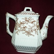Transfer ware  Teapot  Brown