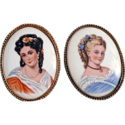 Limoges Painted Porcelain Portraits
