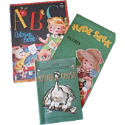 Three Little Vintage Paper Children Books