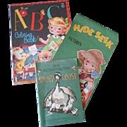 Three Little Vintage Paper Children Books