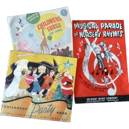 Children's Paper Music and Party Books