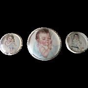 Trio of Baby Prints in Domed Frames