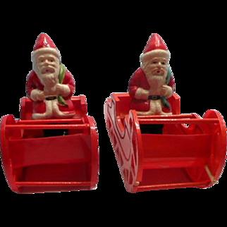 Celluloid Santa in Sleigh