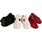 "Three Pairs Shoes for 18"" Doll"
