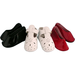 """Three Pairs Shoes for 18"""" Doll"""