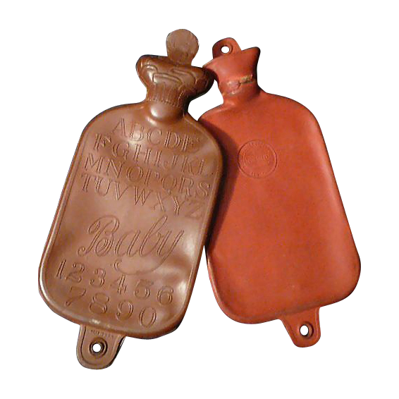 Two Vintage Doll or Baby Water Bottles