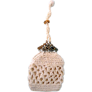 Small Finely Crocheted Doll Purse