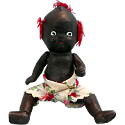 Small Bisque Black Baby Doll