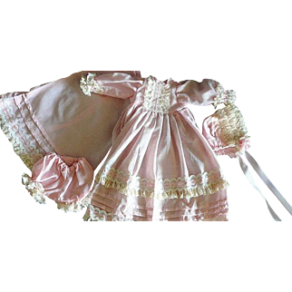 Pink Lacy 4 Piece Dress-up Outfit for  Your Baby Doll