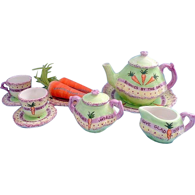 Beautiful Bunnies Tea Set