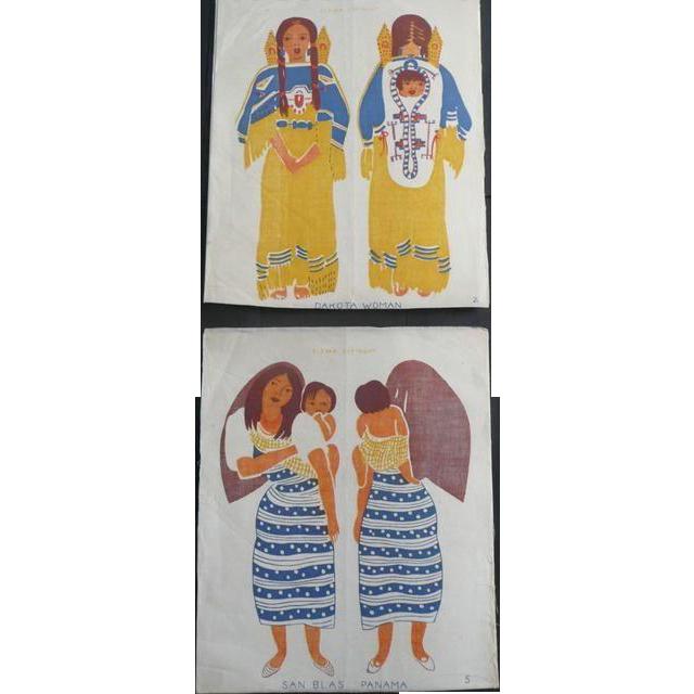 Beautiful Native American Uncut Cloth Doll 1944