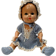 Composition Baby Doll with Complete Crocheted Outfit