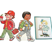 Three Campbell Kid Collectibles