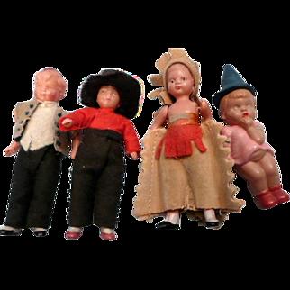 Tiny Doll House Celluloid Dolls