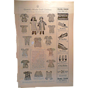 Ladies' Home Journal Doll Pattern Ad 1912