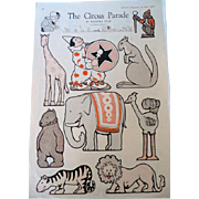 1920 McCall's Circus Paper Dolls - Red Tag Sale Item