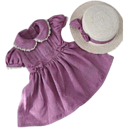 "Doll Dress and Hat for 18"" Doll"