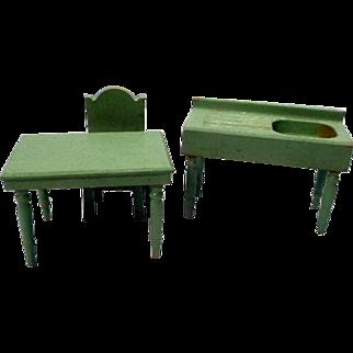 Strombecker Wooden Kitchen Doll House Furniture