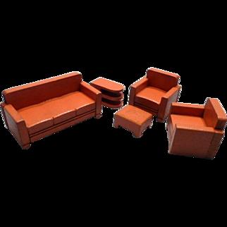 Strombecker Wooden Living Room Doll House Furniture