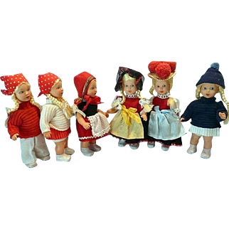 Set of 6 Vinyl Made in West Germany  Doll Said to be Samples