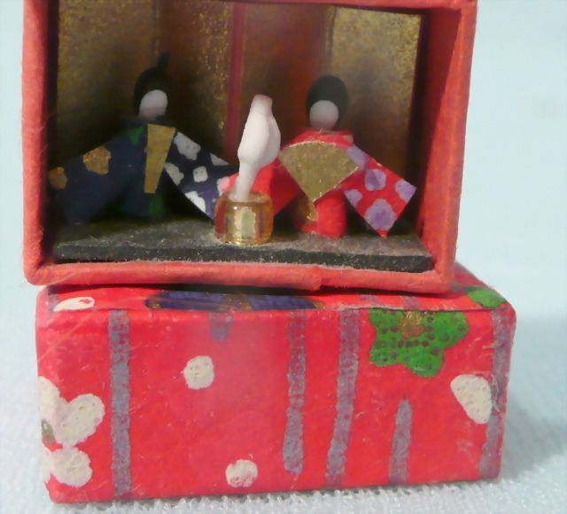 Tiniest Miniature Kokeshi Dolls And Boxed Japanese Pair