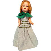 "Lovely Green Eyed 21"" Hard Plastic Doll"