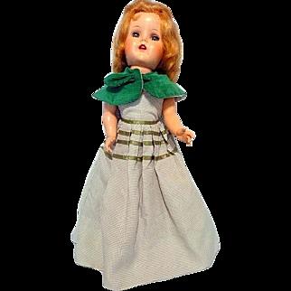 """Lovely Green Eyed 21"""" Hard Plastic Doll"""