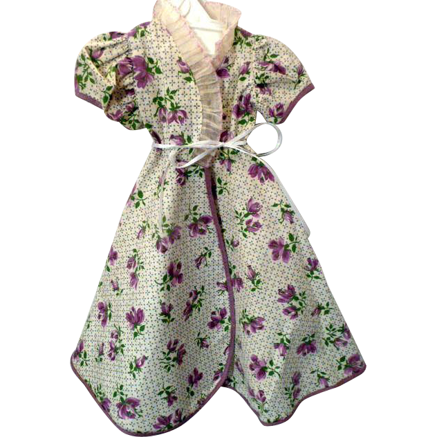 Lounging Gown for Larger Fashion Doll