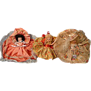 Three Vintage Hollywood Storybook Dolls, One Tagged