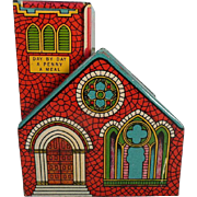 Vintage J. Chein Tin Church Bank