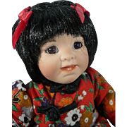 """Porcelain Tiny Tot Collector's Doll 5"""" Lily"""