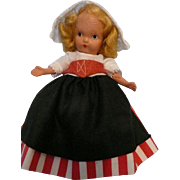 Nancy Ann Jointed Legs, Pudgy Tummy Dutch Doll